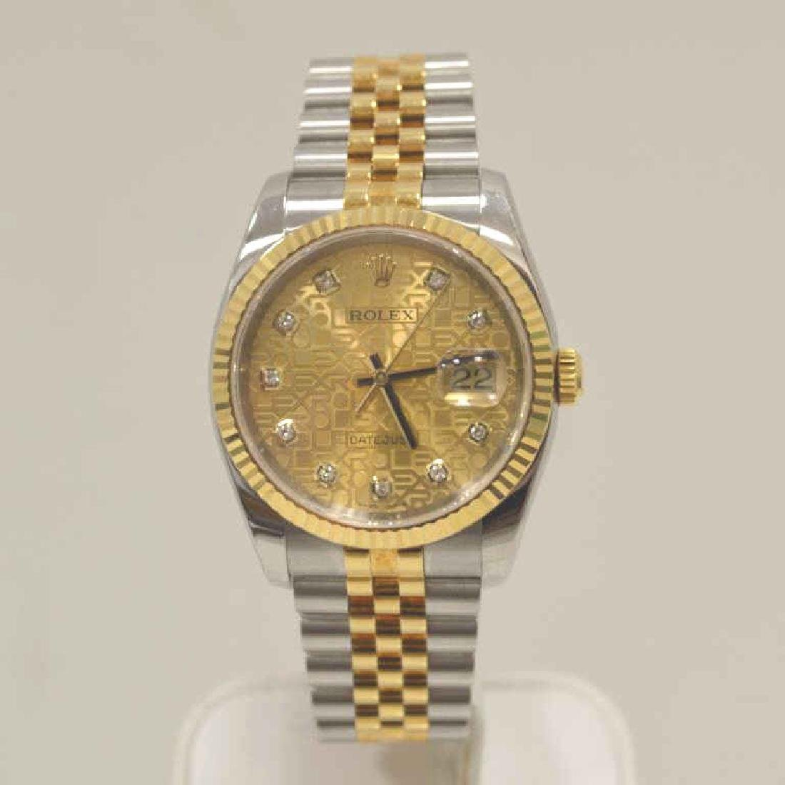 Men's Two Tone Rolex Datejust Watch