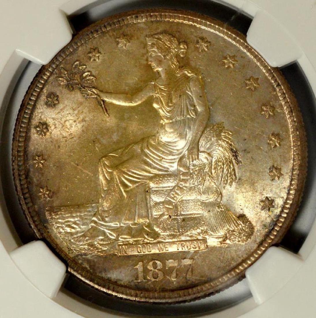 1877-S Trade Silver Dollar NGC MS 65