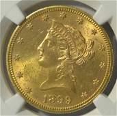 1899 10 Liberty Head Gold Eagle NGC MS 62