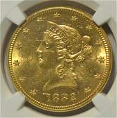 1882 10 Liberty Head Gold Eagle NGC MS 62