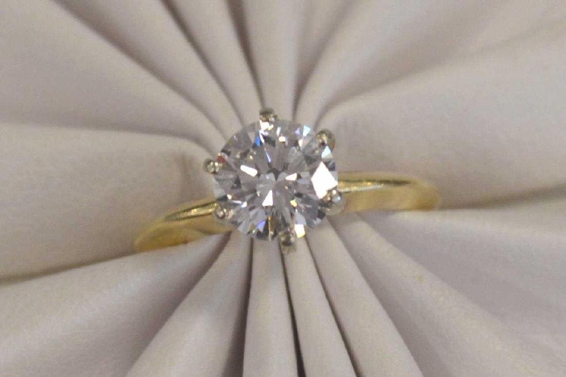 14kt yellow gold 1.66ct diamond solitaire ring