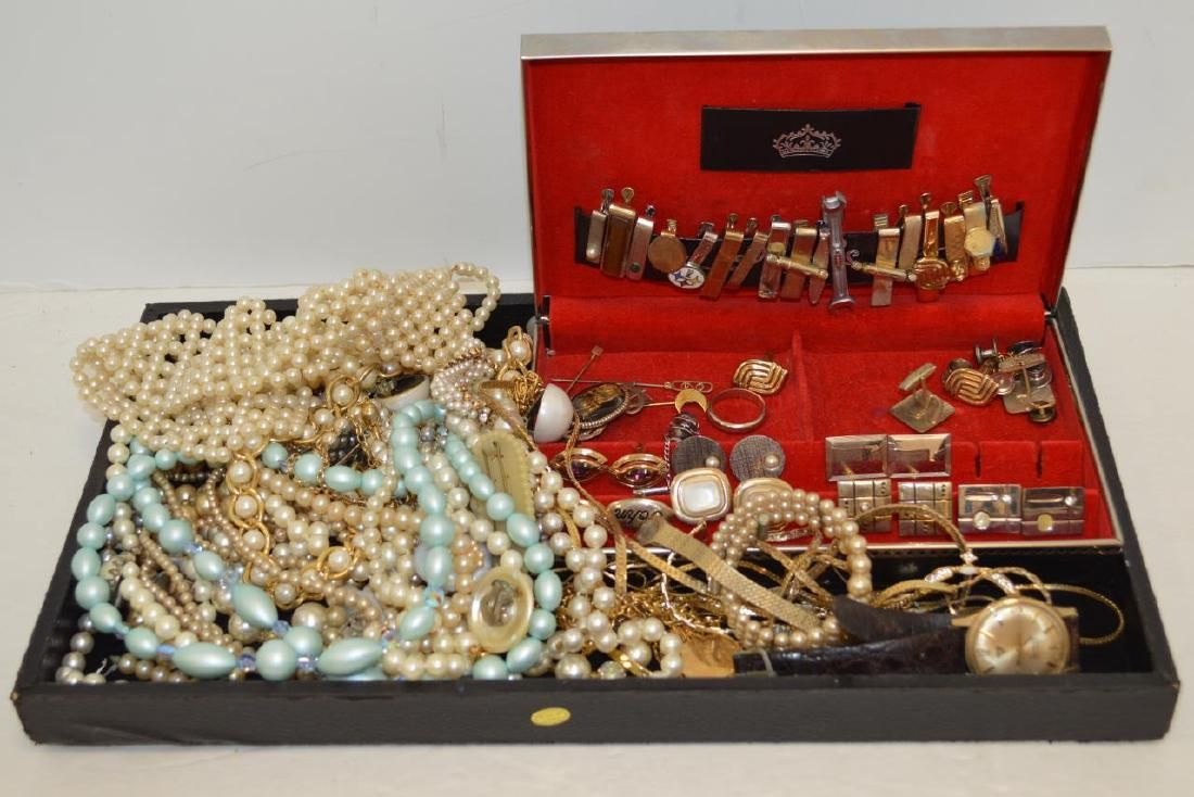 Large lot of costume jewelry and cufflinks