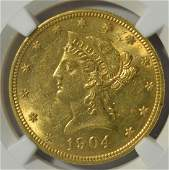 1904 10 Liberty Head Gold Eagle NGC MS 61