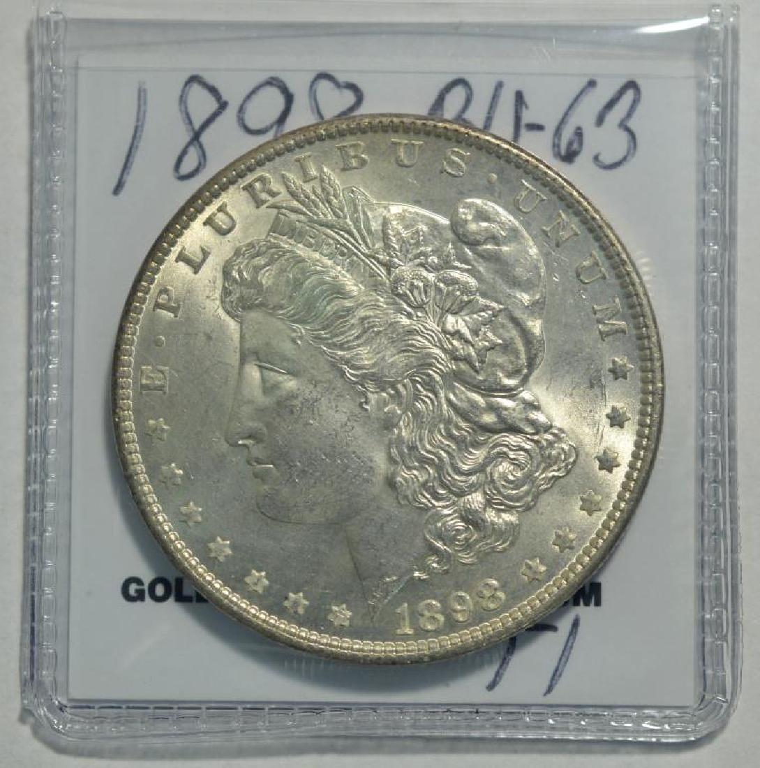 1898 Morgan Silver Dollar BU-63