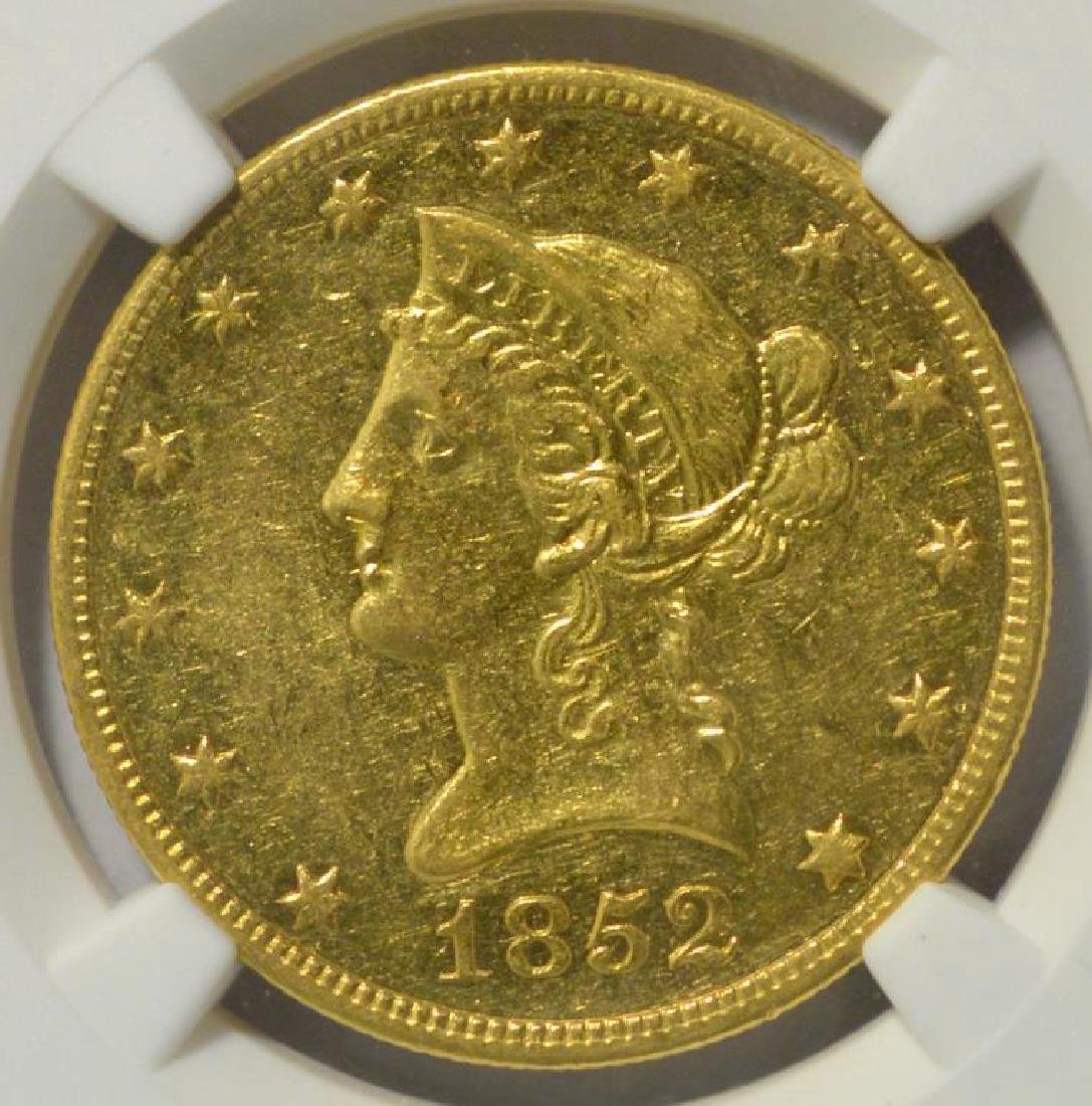 1852-O $10 Liberty Head Gold Eagle NGC AU 53