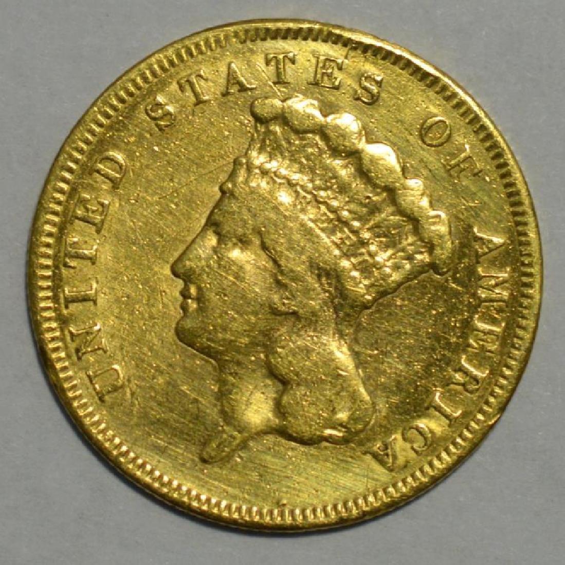 1855-S $3 Indian Princess Head Gold NGC A/S