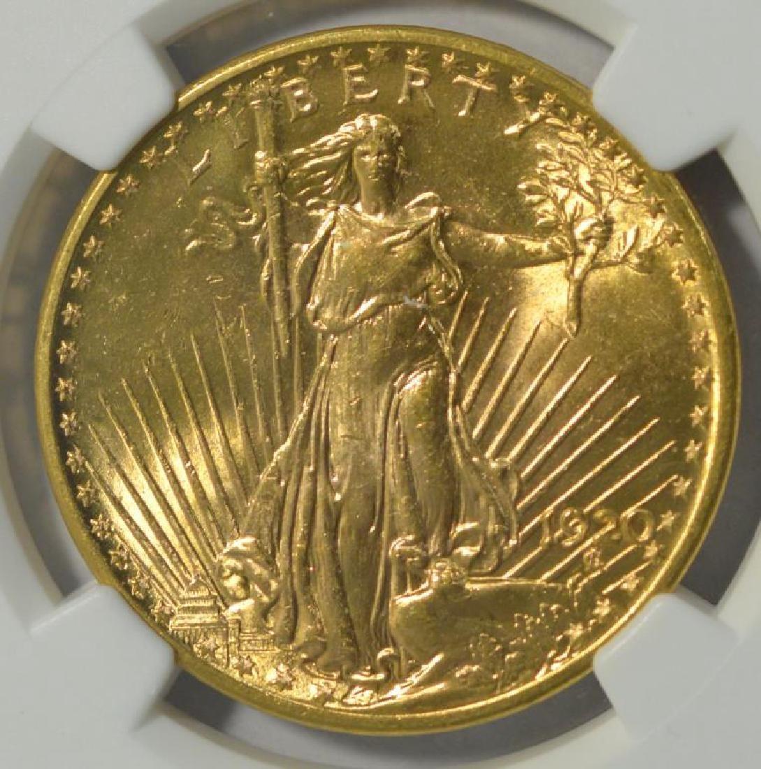 1920 $20 Saint Gaudens Gold Double Eagle NGC MS 63