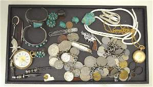 Lot of costume jewelry and antique items