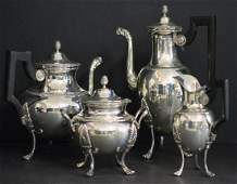 4 pc Odiot French Sterling Silver TeaCoffee Set