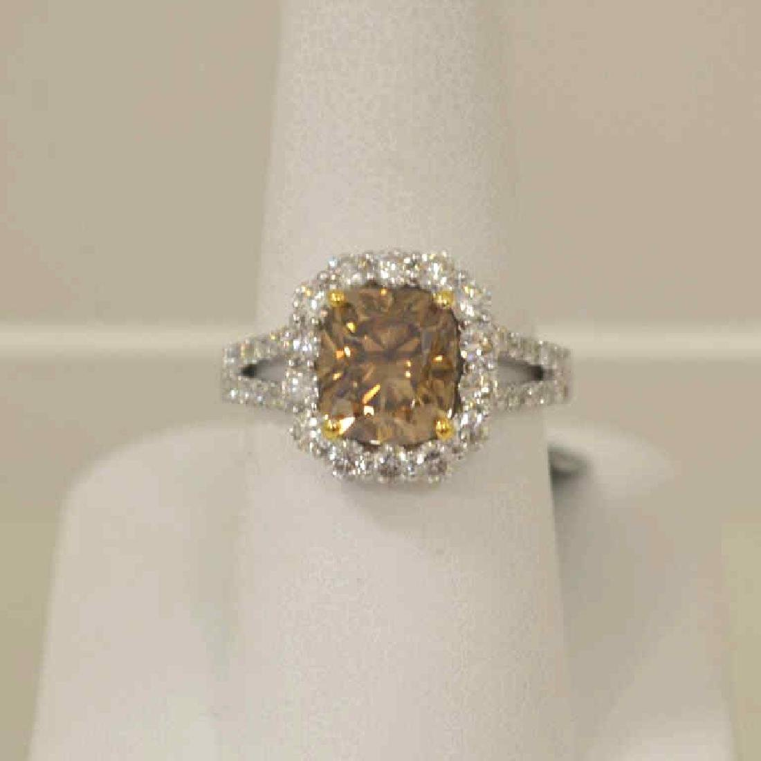 Lady's Fancy Color Diamond Ring