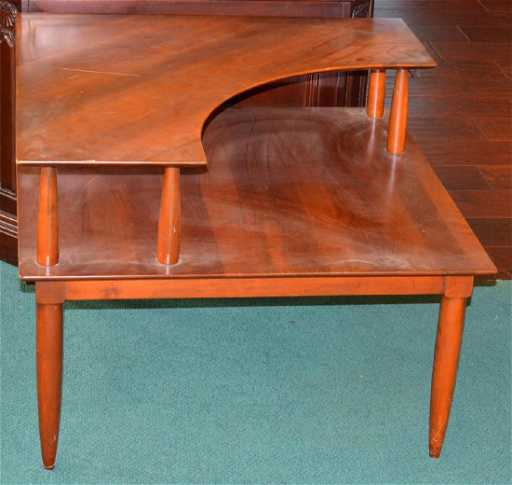 Willett Cherry MidCentury Modern Corner Table - Mid century modern corner table