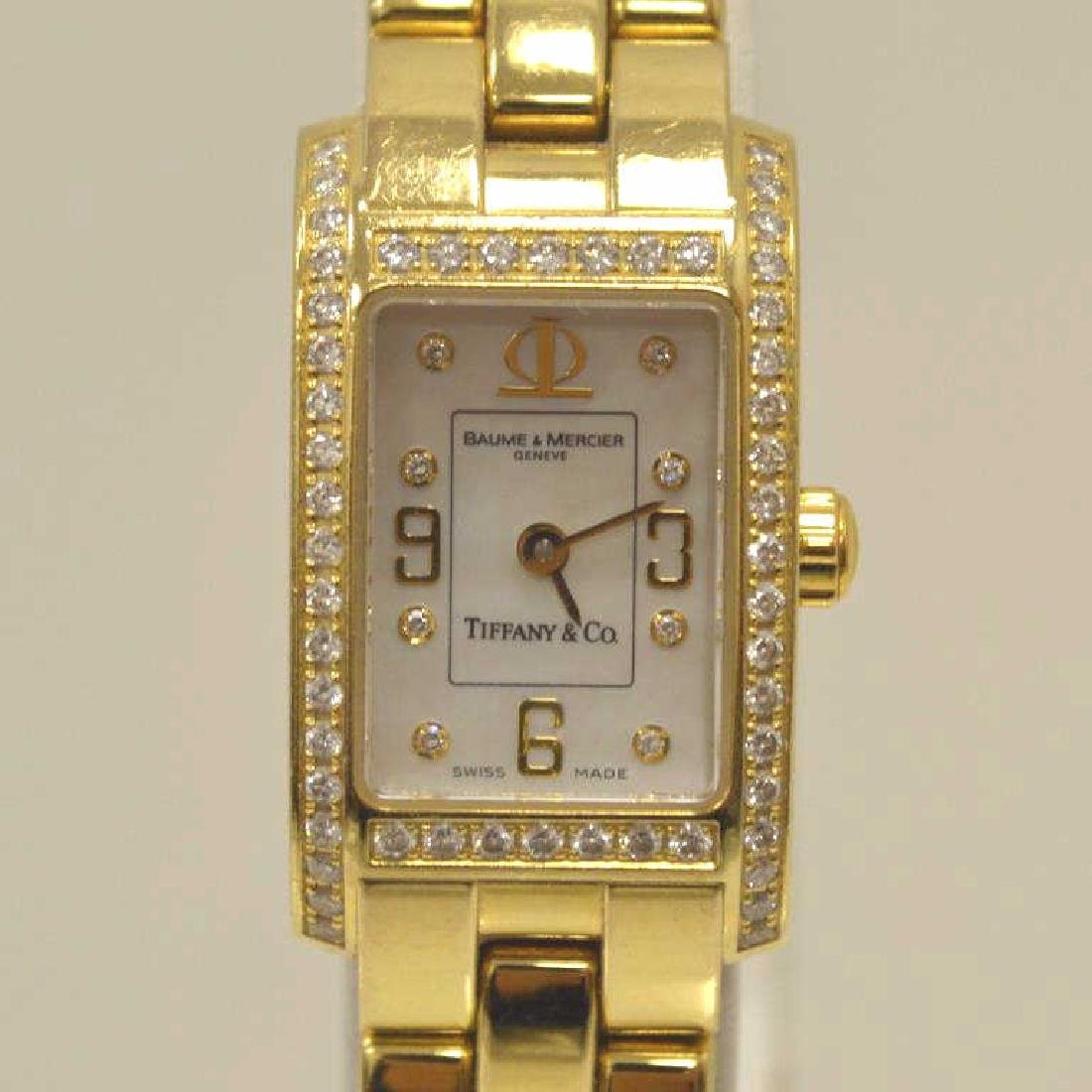 18kt Tiffany & Co., Baume & Mercier diamond watch - 2