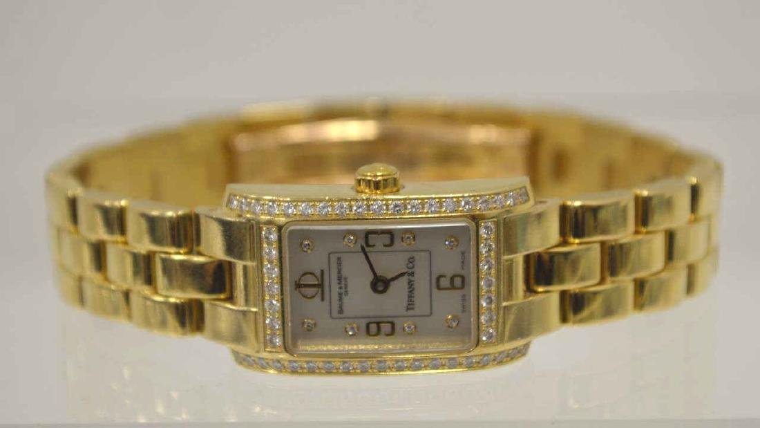 18kt Tiffany & Co., Baume & Mercier diamond watch - 6