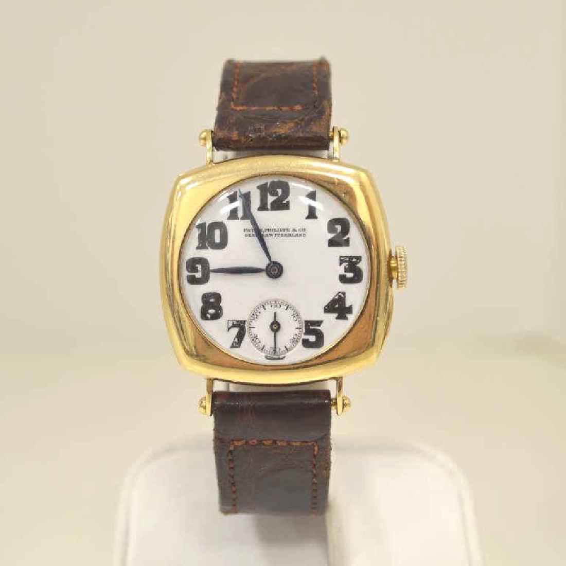 Vintage 18kt Patek Philippe Square Manual Watch