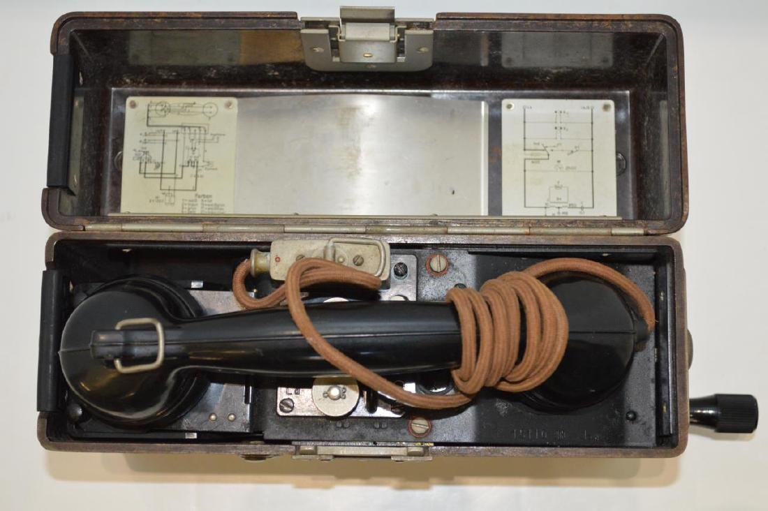 WWII German Army FF33 Field Phone - 2