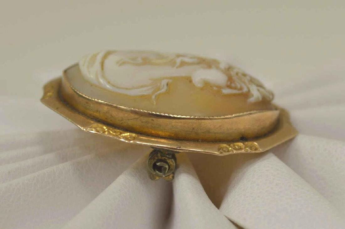 14kt yellow gold cameo brooch/ pendant - 4