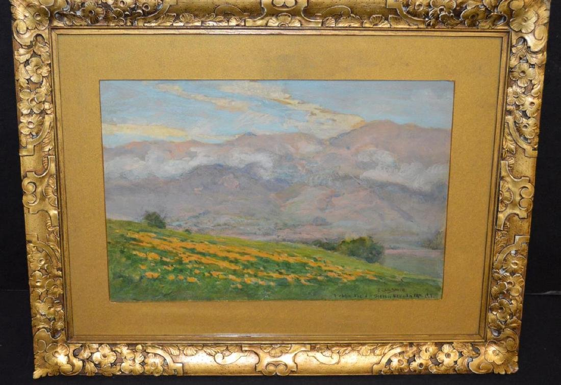 Signed F. Carl Smith Poppy Field Nevada Painting