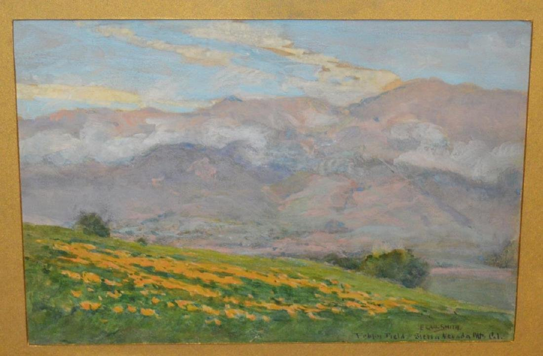Signed F. Carl Smith Poppy Field Nevada Painting - 2