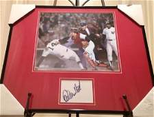 Framed & Matted Carlton Fisk Autograph & Photo