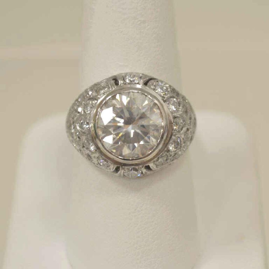 Lady's 4.10Ct Platinum Diamond Ring