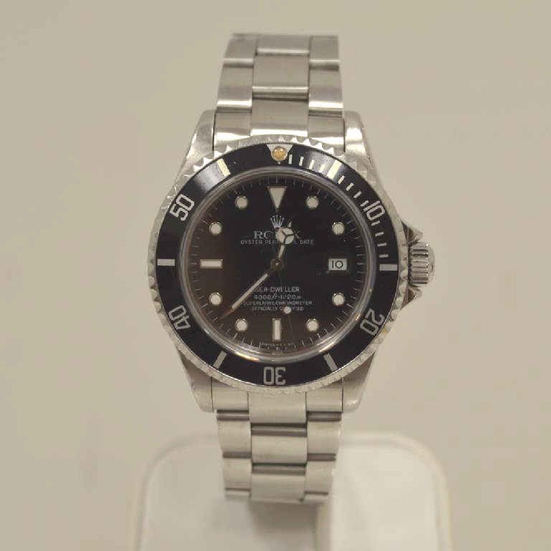 Men's Stainless Rolex Sea- Dweller watch