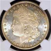1884O Morgan Silver Dollar NGC MS 63 PL