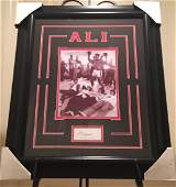 Framed & Matted Muhammad Ali Autograph & Photo
