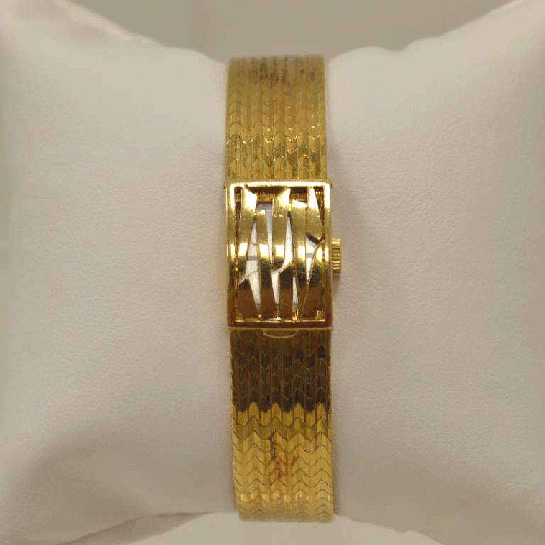 18kt yellow gold Bucherer watch