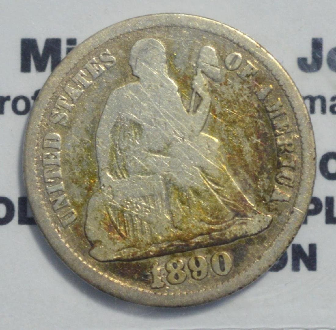 1890-S Liberty Seated Dime VG