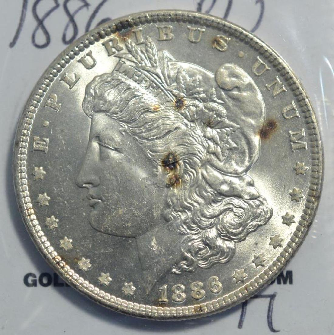 1886 Morgan Silver Dollar BU