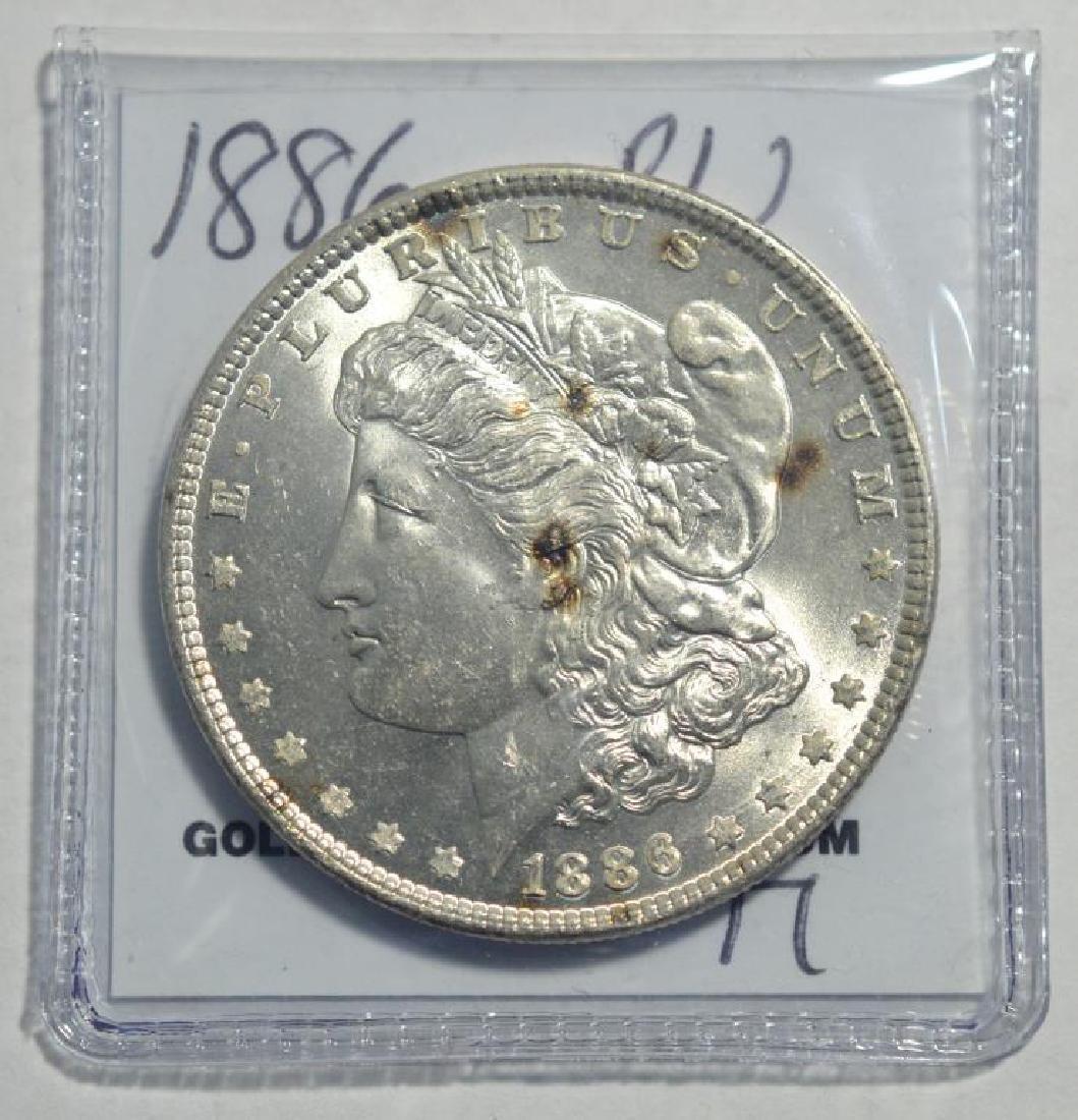 1886 Morgan Silver Dollar BU - 2