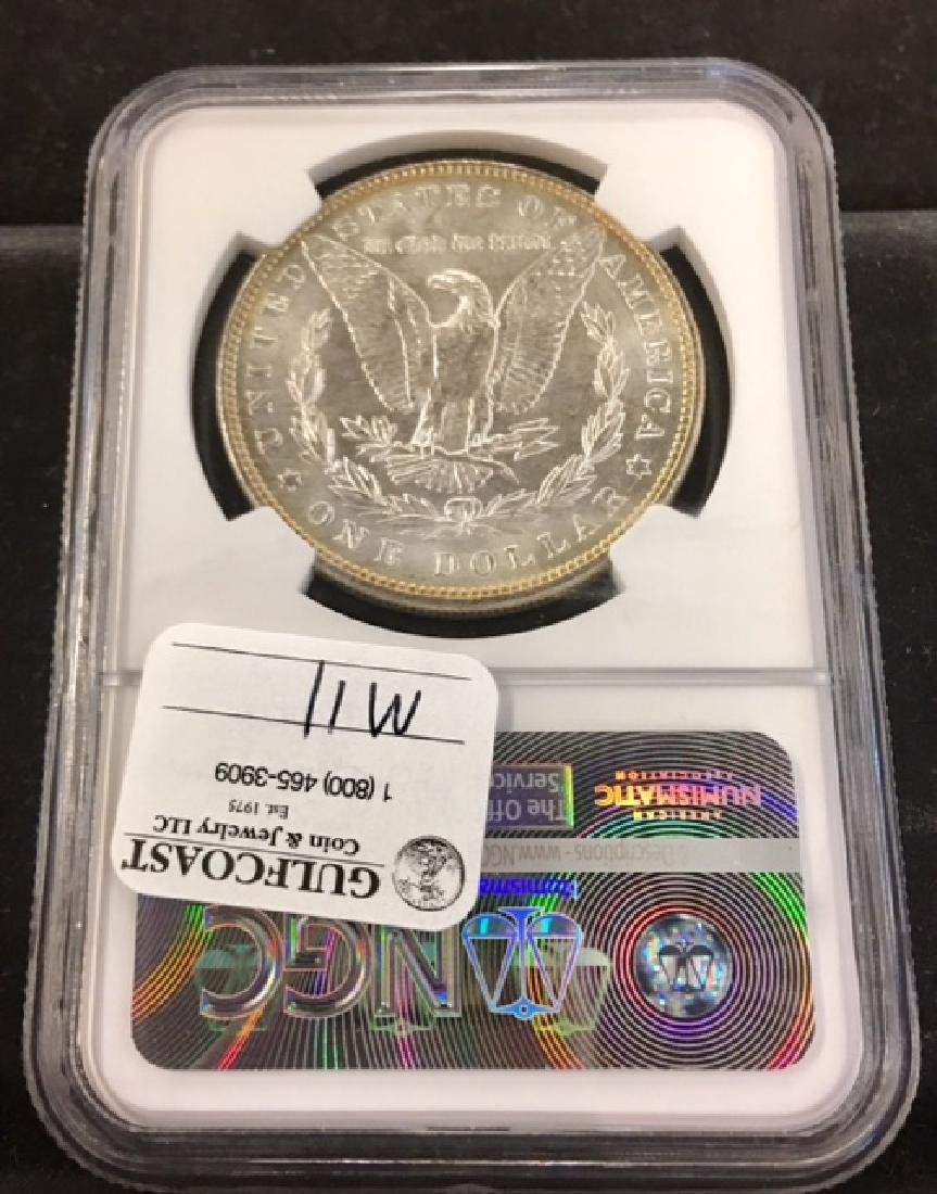 1887 Morgan Silver Dollar NGC 65 - 2