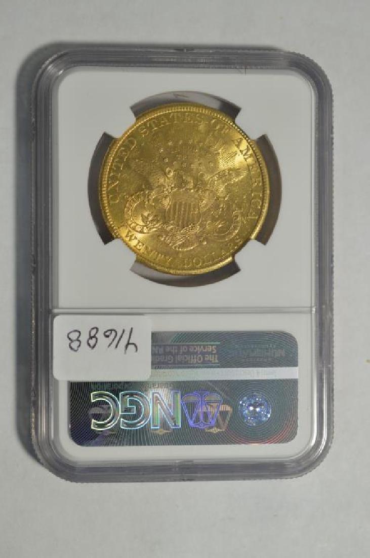 1890-S $20 Liberty Head Gold Double Eagle NGC AU58 - 2