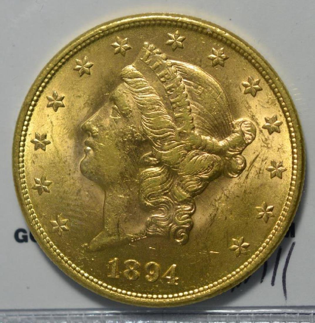 1894 $20 Liberty Head Gold Double Eagle BU