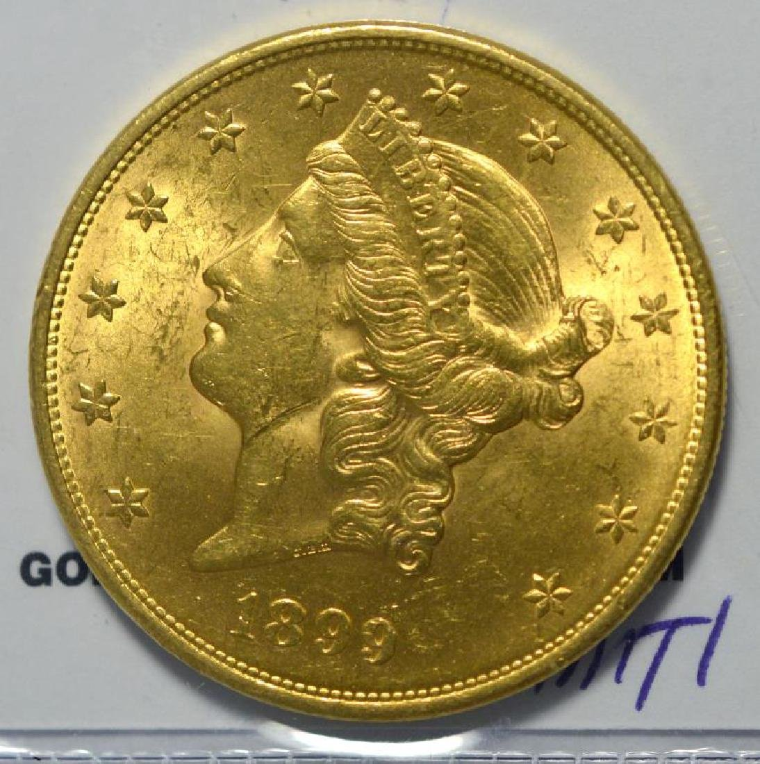 1899 $20 Liberty Head Gold Double Eagle BU