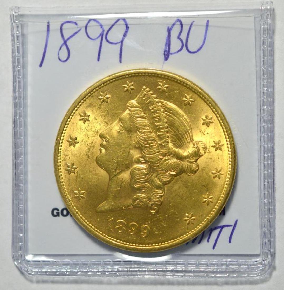 1899 $20 Liberty Head Gold Double Eagle BU - 2