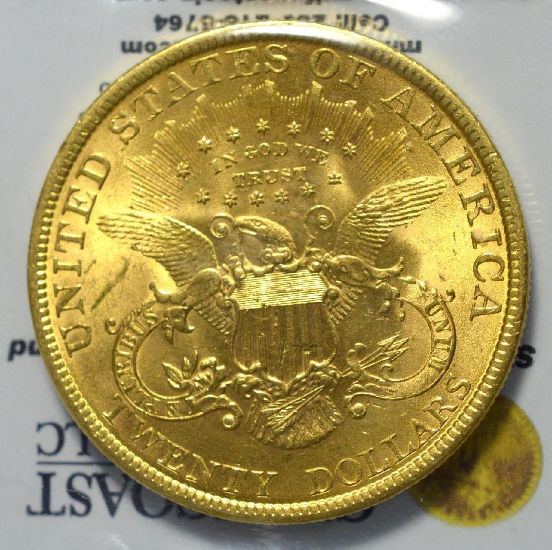 1899 $20 Liberty Head Gold Double Eagle BU - 3