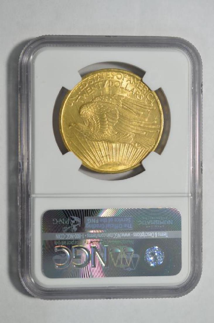 1908 NM G$20 Saint Gaudens Double Eagle NGC UNC - 2