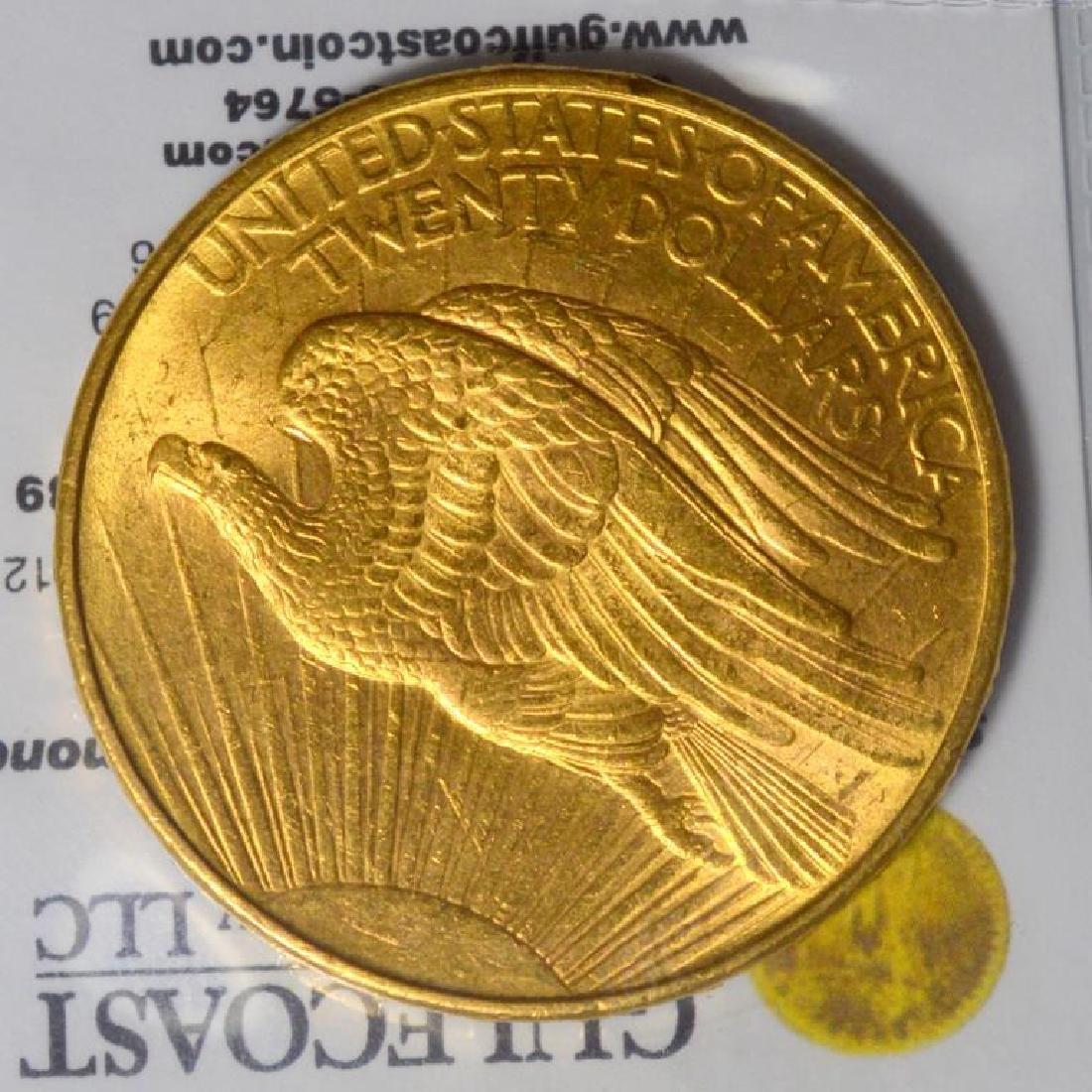 1908-D NM $20 Saint Gaudens Gold Double Eagle BU - 3