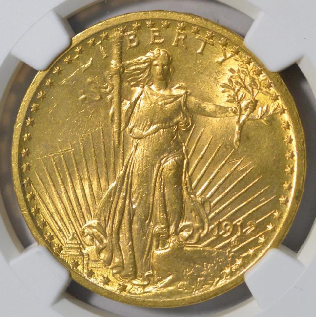 1912 $20 Saint Gaudens Gold Double Eagle NGC MS 62