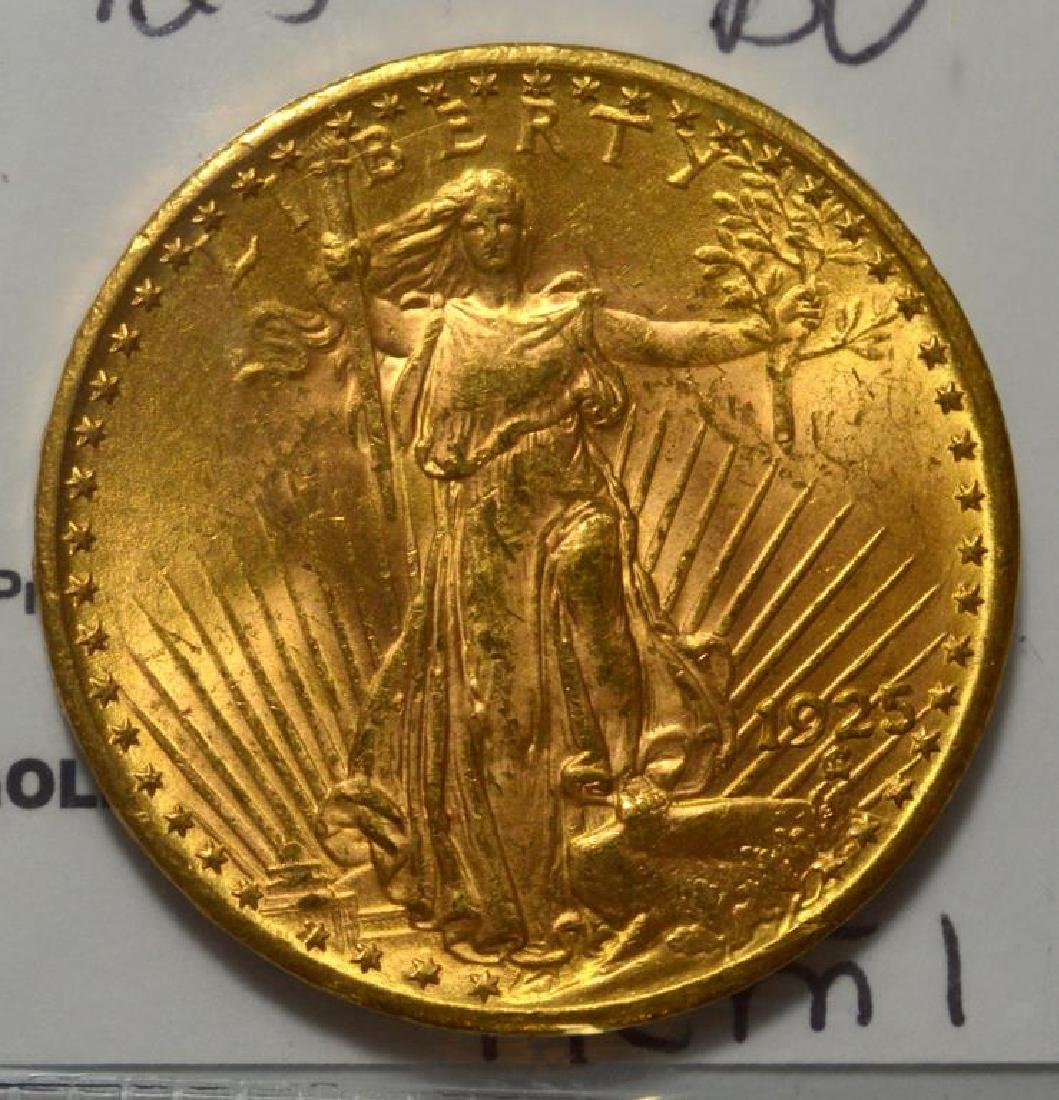 1925 $20 Saint Gaudens Gold Double Eagle BU