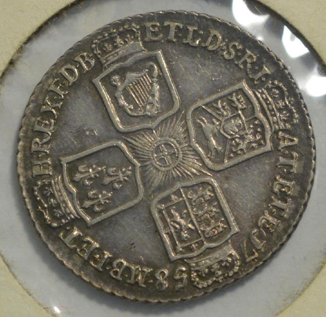 1758 Great Britain Silver 1 Shilling XF - 2