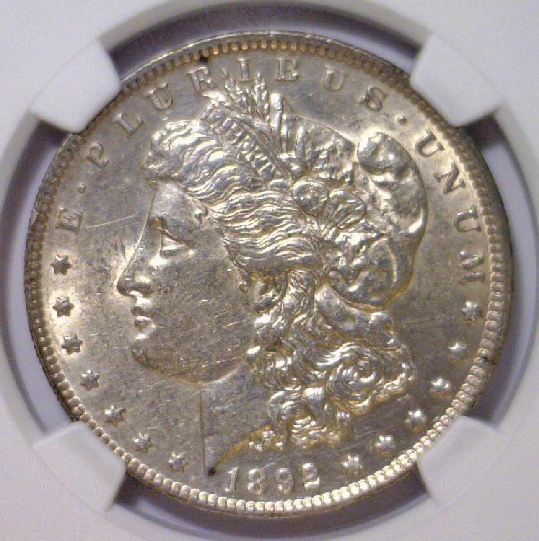 1892 Morgan Silver Dollar NGC AU55
