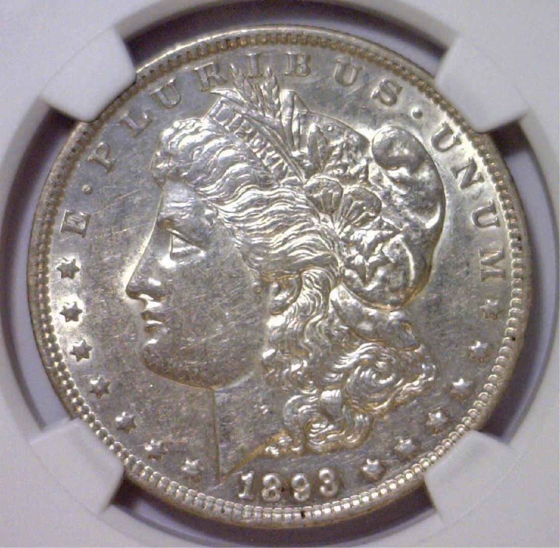 1893 Morgan Silver Dollar NGC AU50