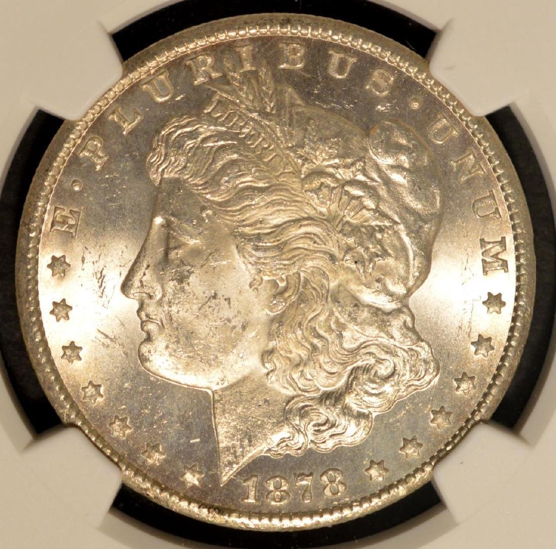 1878-CC Morgan Silver Dollar NGC MS 63
