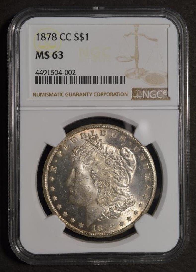 1878-CC Morgan Silver Dollar NGC MS 63 - 2