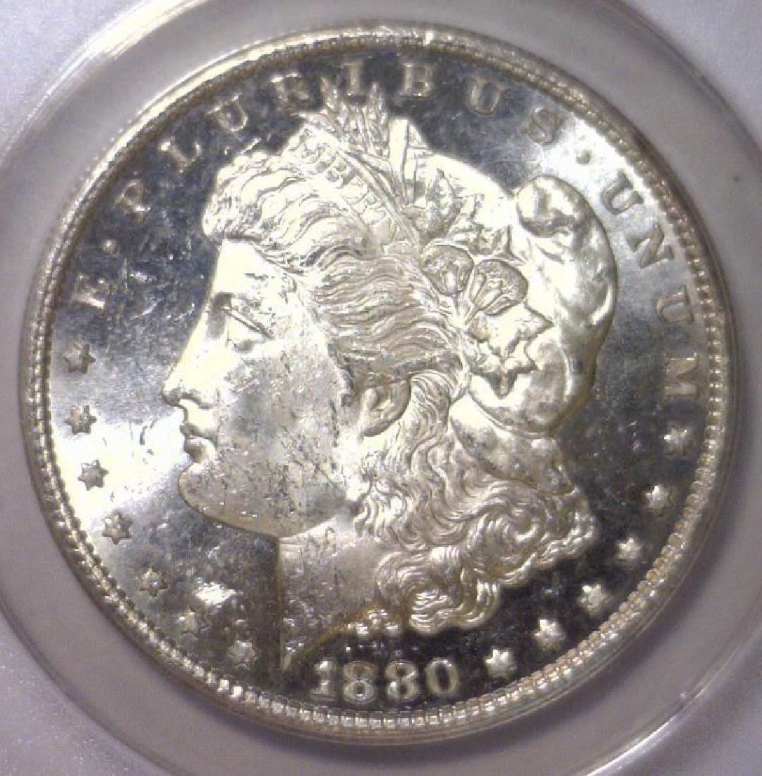 1880-S Morgan Silver Dollar ANACS MS63 OBV PL