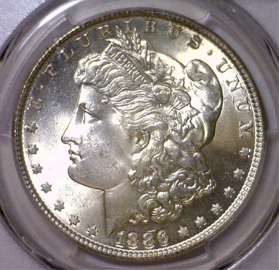 1886 Morgan Silver Dollar PCGS MS64