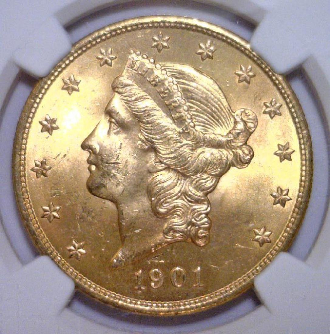 1901 $20 Liberty Double Eagle Gold NGC MS64+ Plus
