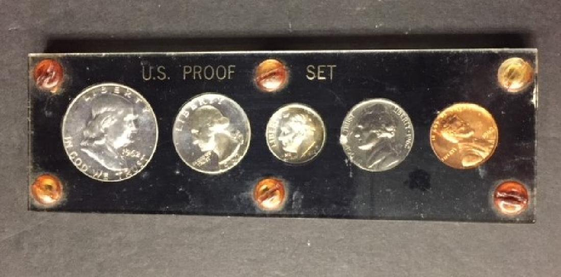 1962 US Silver Proof Set with Franklin Half